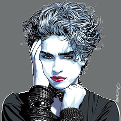 Madonna Art (Mel Marcelo) Tags: portrait celebrity fashion hair vectorart madonna 80s bracelets adobeillustrator spotcolors melito melmarcelo herbrittsphotography