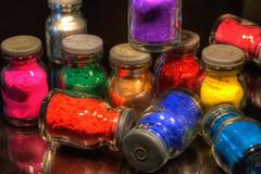 Color Chaos (marcovdz) Tags: color bottles hdr couleur pigments 3xp flacons