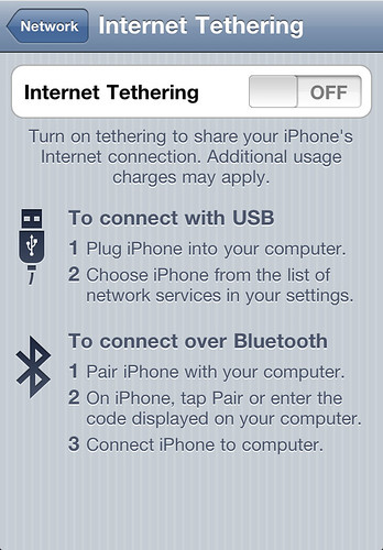 iPhone 4 - Tethering