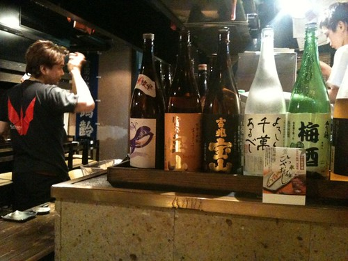 お店なう。最初は新潟の北雪から。
