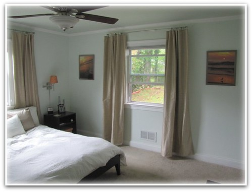 Bedroom with Customized Sunrise Photos