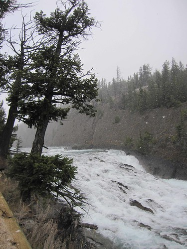 Bow Falls in the Snow, Banff, Oct 15, 2010