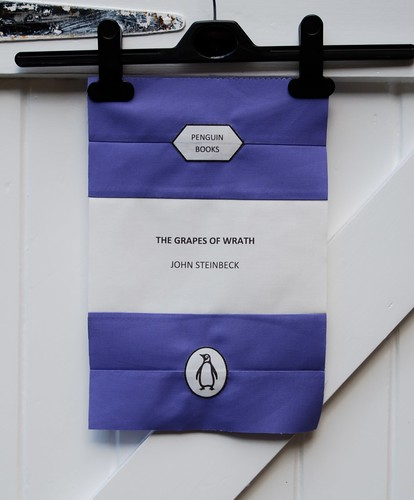 Block 1 for my sister's Penguin Books quilt