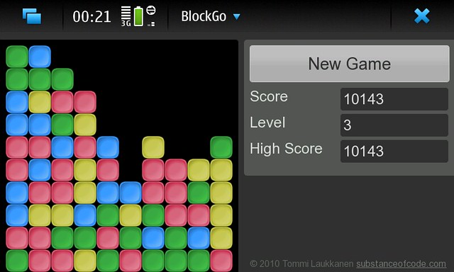 New games are crafted when wife and kids are sleeping. BlockGo for #Nokia #N900 #QtWebRuntime