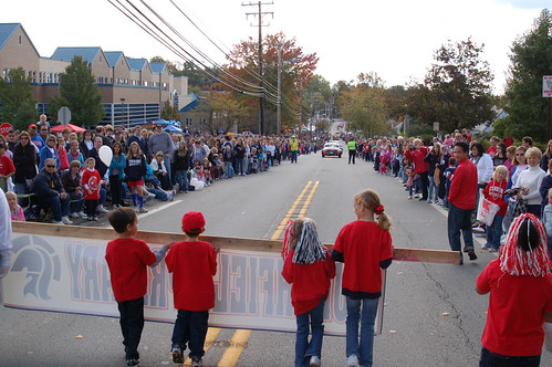 Homecoming 2010:  The view frombehind the banner.