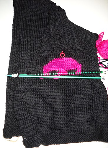 Skully Sweater in Progress