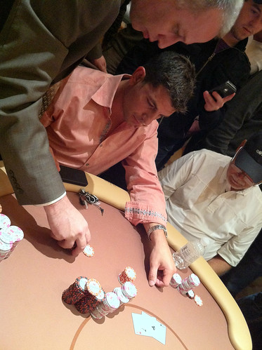 Brandon Steven Doubles w/ Aces on Money Bubble