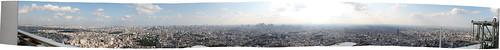 サンシャイン60展望台からの都心