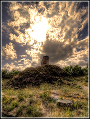 Tomb on the Hill (Matt Lazzarini) Tags: road travel sky italy rome roma clouds lens photography ancient ruins italia angle hill tomb wide olympus antica via mound hdr highdynamicrange relics e600 oly uwa appiah romacaputmundi 918mm cloudsstormssunsetssunrises viaappiahantica