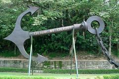 Anchor at the Slavery Museum, Calabar (melita_dennett) Tags: africa sculpture marina river cross anchor nigeria slavery musuem calabar