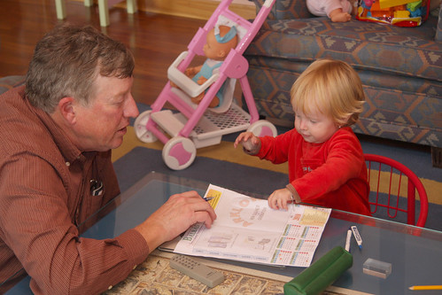 Drawing with Grandpa