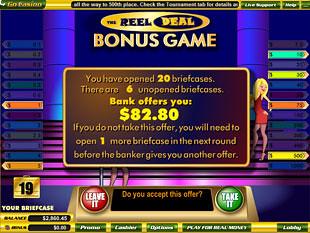 free Reel Deal slot bonus award