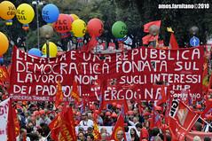 Manifestazione FIOM 16 ottobre 2010 VII (farnitano.amos) Tags: street city people italy rome color roma nikon europa europe strada italia colore gente protest protesta citt stphotographia