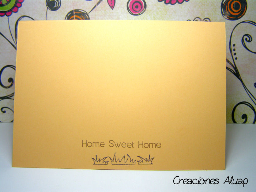 "Trasera ""Home Sweet Home"""