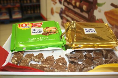 RITTER SPORT Keks + Nuss und Goldschatz
