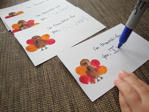 Thumbprint Turkeys for Thanksgiving