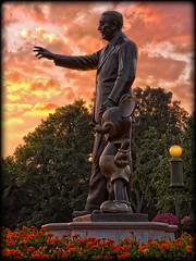 Everyone's Favorite Statue at Sunset [Explore] (Silver1SWA (Ryan Pastorino)) Tags: world sunset statue canon mouse florida magic kingdom disney mickey disneyworld wdw walt magickingdom partners canon24105l 40d