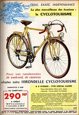 the 1960s-ad for Hirondelle cyclotourisme bike (april-mo) Tags: bike ads 1962 vlo the60s vintageads the1960s frenchbike vintagefrenchmagazine vintageadforbike adforbike lechasseurfranais1962 lechasseurfranaisads 1962frenchmagazine hirondellecyclotourismebike hirondellecyclotourisme 1962frenchbike vintageadforfrenchbike