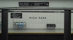 Arriving at High Park Station, High Park Station (Kino Praxis) Tags: toronto train subway highpark ttc transit masstransit