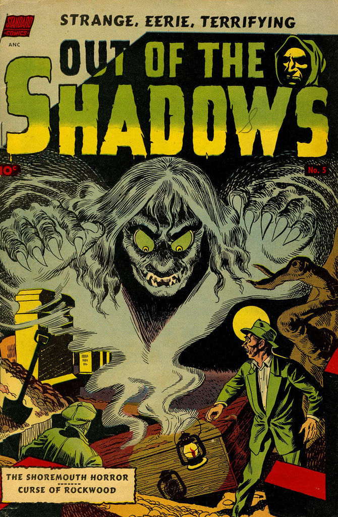 Out Of The Shadows #5 George Roussos Cover Art (Standard, 1952)