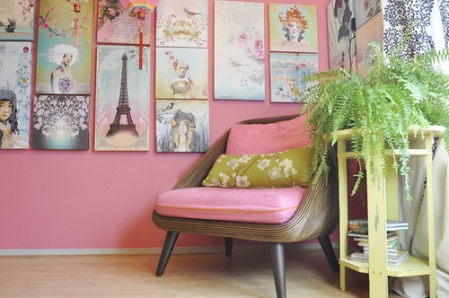 my pink office re-do