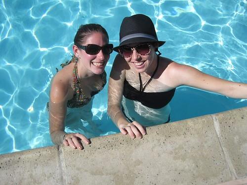 Palm Springs pool with Julie!