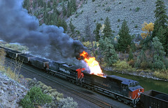 SP358 (delticfan) Tags: sp southernpacific ac4400cw sp358 gefire exhaustfire