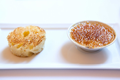 Bruleed foie gras cream and toasted brioche
