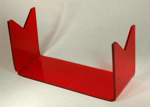 Horizontal Rocket Stand - Laser Cut Acrylic.