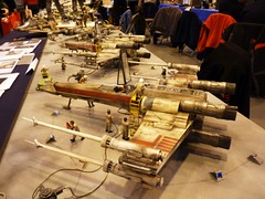 X-WINGS AT IPMS TELFORD. (suki5150) Tags: starwars lucasfilm r2d2 droid c3po tatooine xwingfighter t65