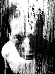 dissolved (Monch_18) Tags: distortion selfportrait texture strange face digital photoshop dark crazy scary raw chaos autoportrait noiretblanc head expression manipulation anger sombre madness insanity nightmare artbrut fury tte dreamcatcher visage monch badmood trange disfigured folie dformation cauchemard disfiguration inquitant matire dfigur dfiguration