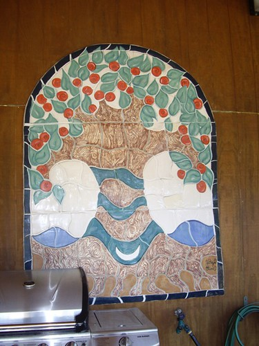 A tiled mosaic by David's daughter