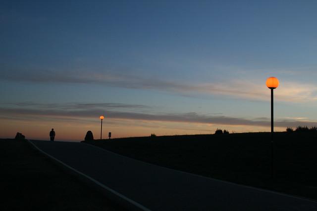 dusk in santa cruz