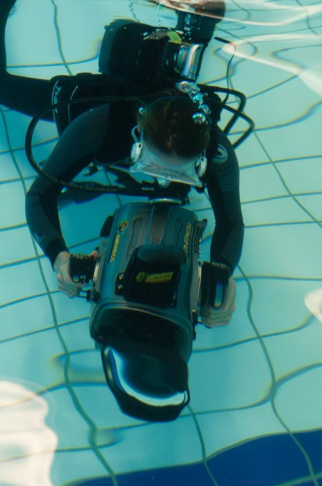 Underwater camera training workshop