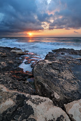 The Fissure (beconico) Tags: sea sun clouds sunrise mar rocks amanecer nubes rocas fissure fisura