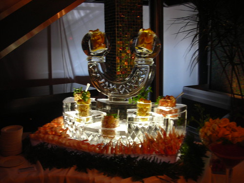 Half Moon Seafood Station ice sculpture