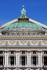 Paris Opera dome (Palais Garnier) (tom.wright) Tags: city blue roof house paris france green geometric vertical stone gold opera europe charles symmetry dome copper palais symmetric operahouse garnier palaisgarnier tomwright charlesgarnier guilding canonef70200mmf4lisusm copyright2010