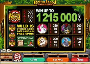 free Robin Hood Feathers of Fortune slot mini symbol