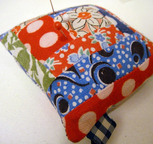 feedsack pincushion