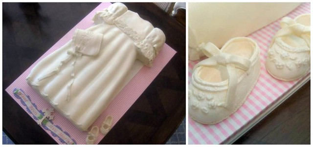 baby girl christening dress cake