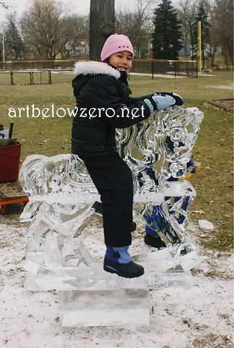 Rocking Horse Photo op ice sculpture