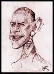 obama drawing portrait