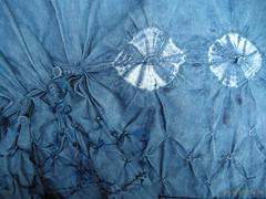 shibori bleu indigo