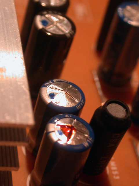Defective capacitors