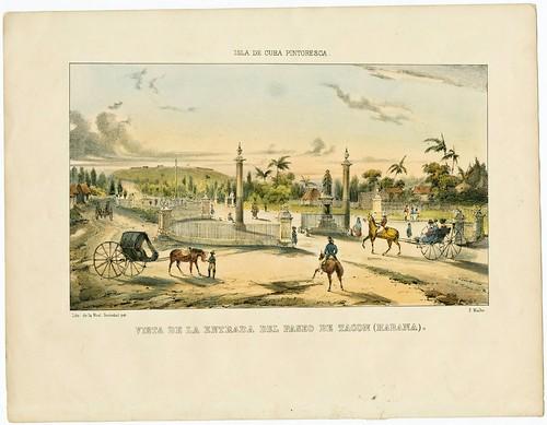 Vista de la Entrada del Paseo de Tacon (Habana)