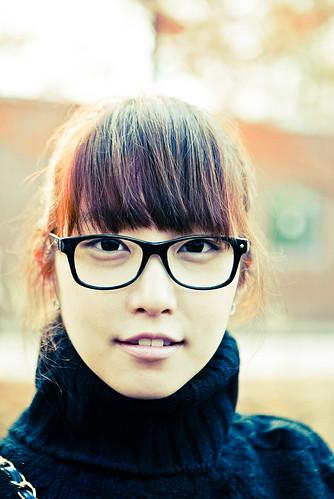 フリー写真素材|人物|女性|アジア女性|眼鏡・メガネ|