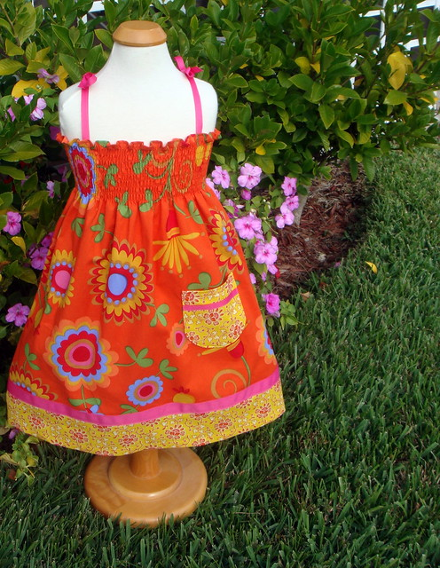floral shirred sundress