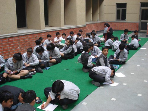 Children Engrossed in the 'Creating Graphic Novels' activity