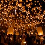 Yee Peng Celebration, Chiang Mai, Thailand
