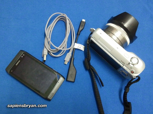 Nokia N8 : Connect To Sony NEX3 dSLR Camera Using USB OnTheGo